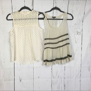 Anthropologie Bundle of 2 Monteau Polka Dot Tops